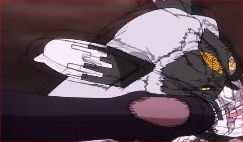アニメBORUTO65話、モロにサスケのケリを喰らうモモシキ