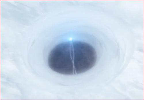 アニメBORUTO65話、上空の厚い雲を突き破る螺旋丸