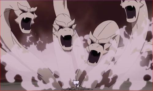 アニメBORUTO65話、地上に降り立ち犬飼健命を再び発動するモモシキ