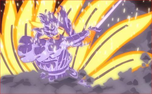 アニメBORUTO65話、威装・須佐能乎で強化した尾獣モード