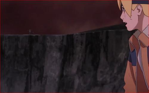 アニメBORUTO65話、崖の上に現れたカタスケ