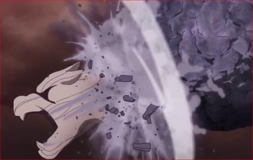 アニメBORUTO65話、犬飼健命で地爆天星を破るモモシキ