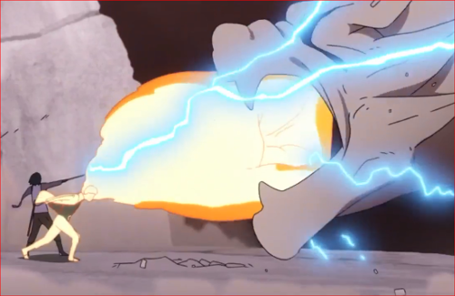 アニメBORUTO65話、犬飼健命を打ち破るナルトとサスケ