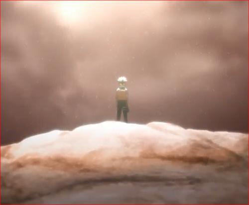 アニメBORUTO65話、神樹の上に立ち空を見上げるボルト