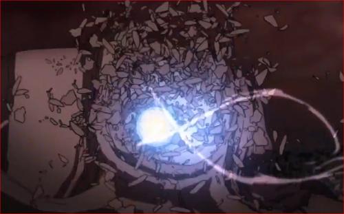 アニメBORUTO65話、神樹の切り株を打ち砕き飛ばされる螺旋丸