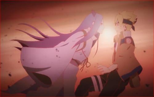 アニメBORUTO65話、突然、ボルトの前に現れたモモシキ