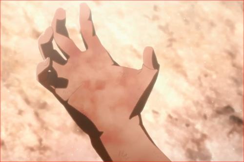 アニメBORUTO65話、薄らと楔が見える右手