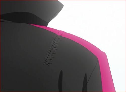 アニメBORUTO66話、上着にのこる修繕の後