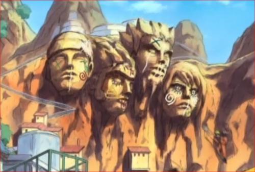 アニメNARUTO、オレも顔岩に…こんな感じで悪戯を…