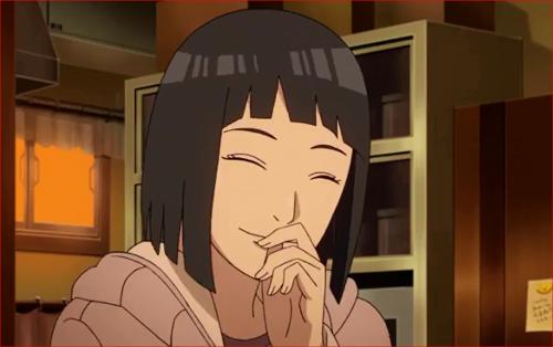 アニメBORUTO66話、ヒナタの笑顔