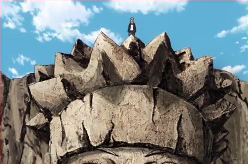アニメBORUTO66話、七代目の火影岩に立つボルト