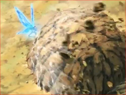 アニメBORUTO67話、チョウジは蝶モードで岩の塊を粉砕