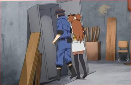 アニメBORUTO68話、二人はロッカーに隠れることに