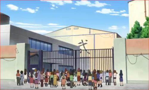 アニメBORUTO68話、撮影所の外に集まるファン