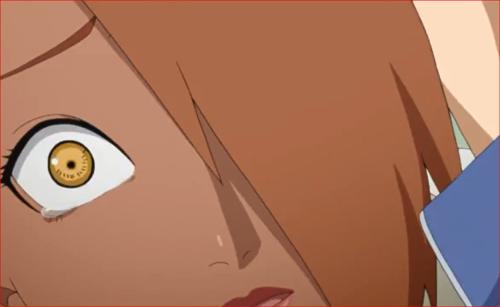 アニメBORUTO68話、涙を浮かべるチョウチョウ