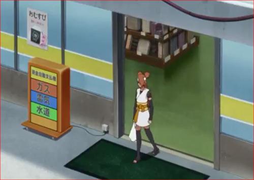 アニメBORUTO69話、コンビニから出てくるチョウチョウ