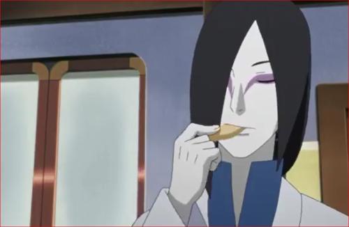 アニメBORUTO69話、ポテトを食べる大蛇丸