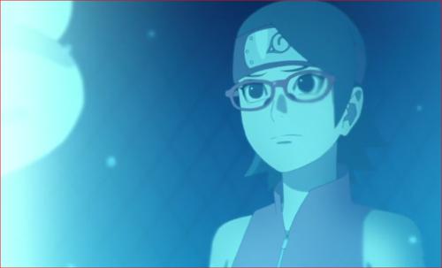 アニメBORUTO第73話、サラダは、試験官の中の実験体を見て何を思う?