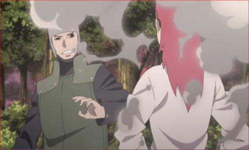 アニメBORUTO第73話、変化を解いて正体を現す香燐