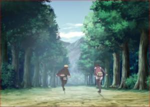 アニメBORUTO第73話、大蛇丸の情報を手掛かりに龍地洞に急ぐ二人