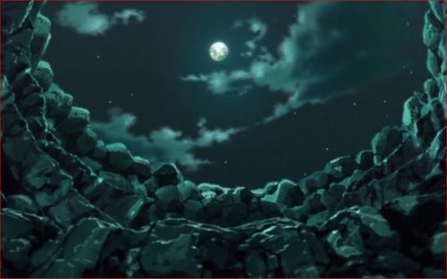 アニメBORUTO第73話、日が暮れた大蛇丸のアジト…
