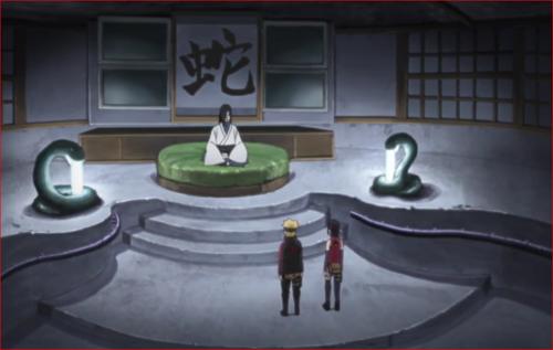 アニメBORUTO第73話、蛇の解析結果を聞くボルト達