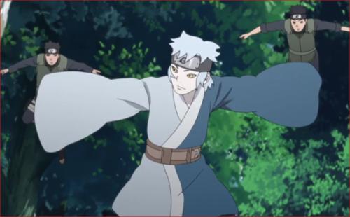 アニメBORUTO第73話、陽動作戦でヤマトたちを引き付けるサラダ