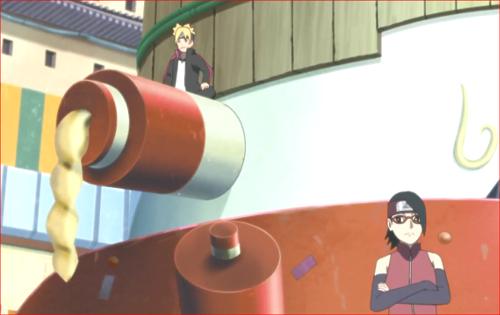 アニメBORUTO72話、ミツキを待つ第七班