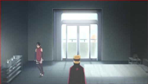 アニメBORUTO72話、何て言うか、滅茶苦茶寂しい部屋だな