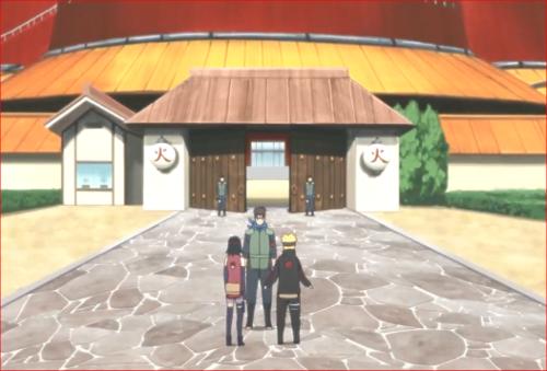 アニメBORUTO72話、木ノ葉丸を訪ねるボルトとサラダ