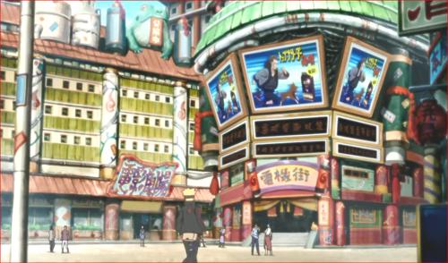 アニメBORUTO72話、街でミツキを探す二人