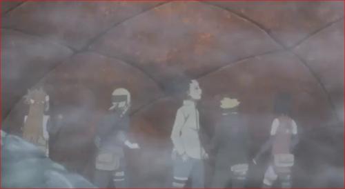 アニメBORUTO76話、いつの間にか赤い壁が