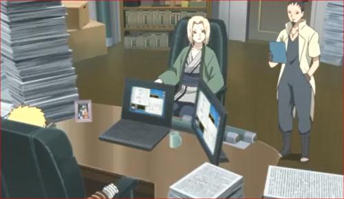 アニメBORUTO76話、サクラの報告を読むシカマル