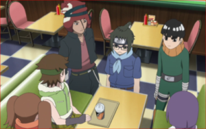 アニメBORUTO76話、ボルトたちを心配する第五班と第十五班のメンバー