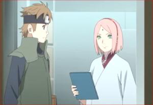 アニメBORUTO76話、ユリトに報告書を託すサクラ