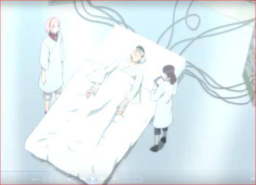 アニメBORUTO76話、容体も安定してきた門番