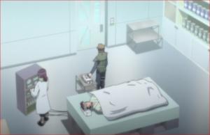 アニメBORUTO76話、治療用の注射器に手を出すユリト