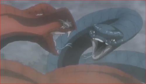アニメBORUTO76話、睨み合うガラガとアオダ
