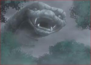 アニメBORUTO76話、石化した大蛇