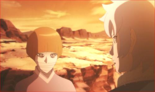 アニメBORUTO第80話、キミは、木ノ葉の忍を倒したふりをして、蛇を残した