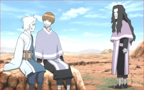 アニメBORUTO第80話、キレイだね、ミツキ君の肌…