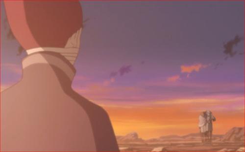 アニメBORUTO第80話、セキエイに肩を貸し歩いてくるミツキと遭遇