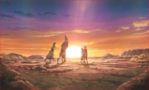 アニメBORUTO第80話、セキエイの元に駆けよる仲間たち