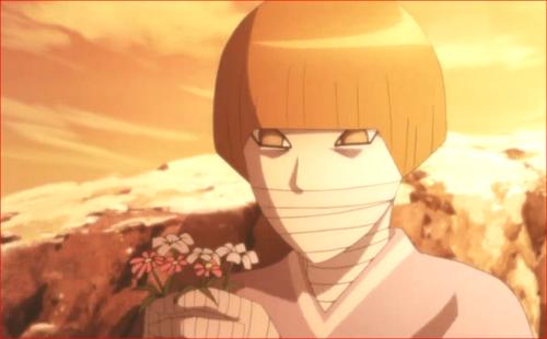 アニメBORUTO第80話、人間は、病気の人に花を贈るんだ