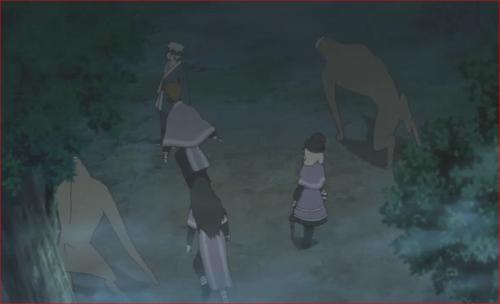 アニメBORUTO第80話、門番を倒しに行く二体のアクタとセキエイ、コクヨウ