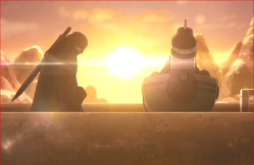 アニメBORUTO82話、オオノキの前に跪く空