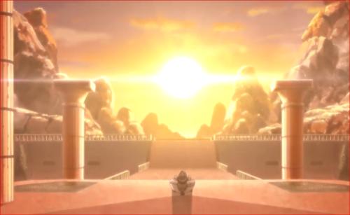 アニメBORUTO82話、旧市街で夕日を見つめるオオノキ