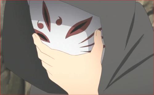 アニメBORUTO82話、面をかぶり出発する木ノ葉丸