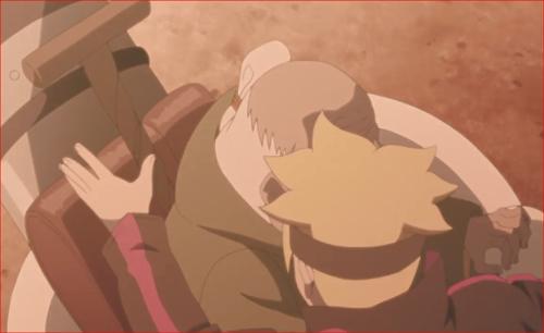 BORUTO84話、オオノキを助けるボルト