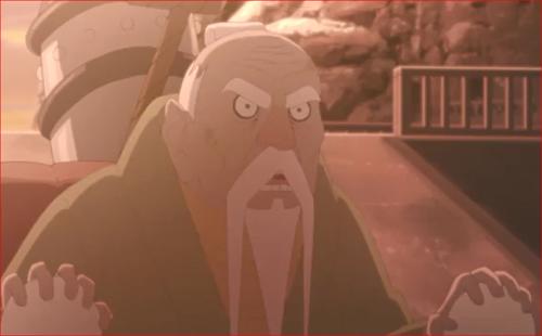 BORUTO84話、空に手荒な真似はするなと言うオオノキ